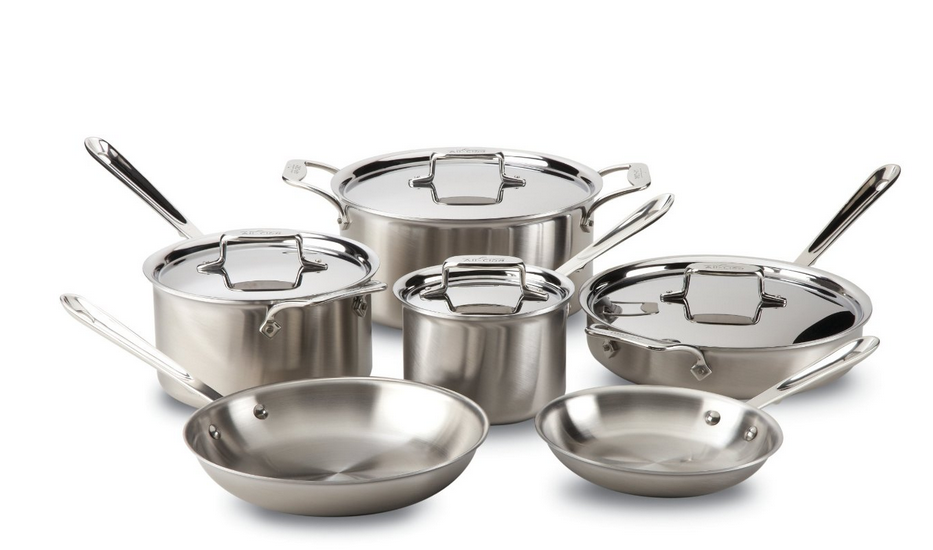 All Clad D5 10 piece Cookware Set