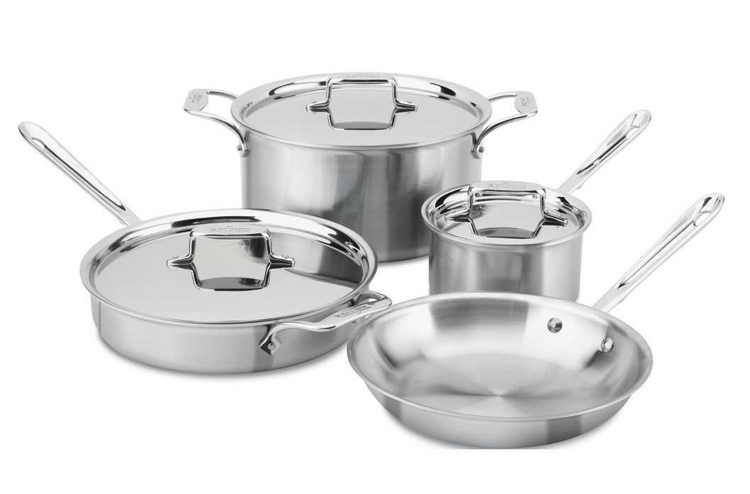All Clad D5 7 piece Cookware Set