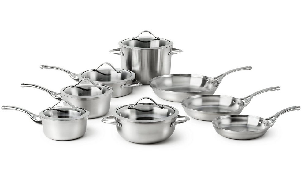 Calphalon Contemporary Stainless Steel 13-piece Cookware Set