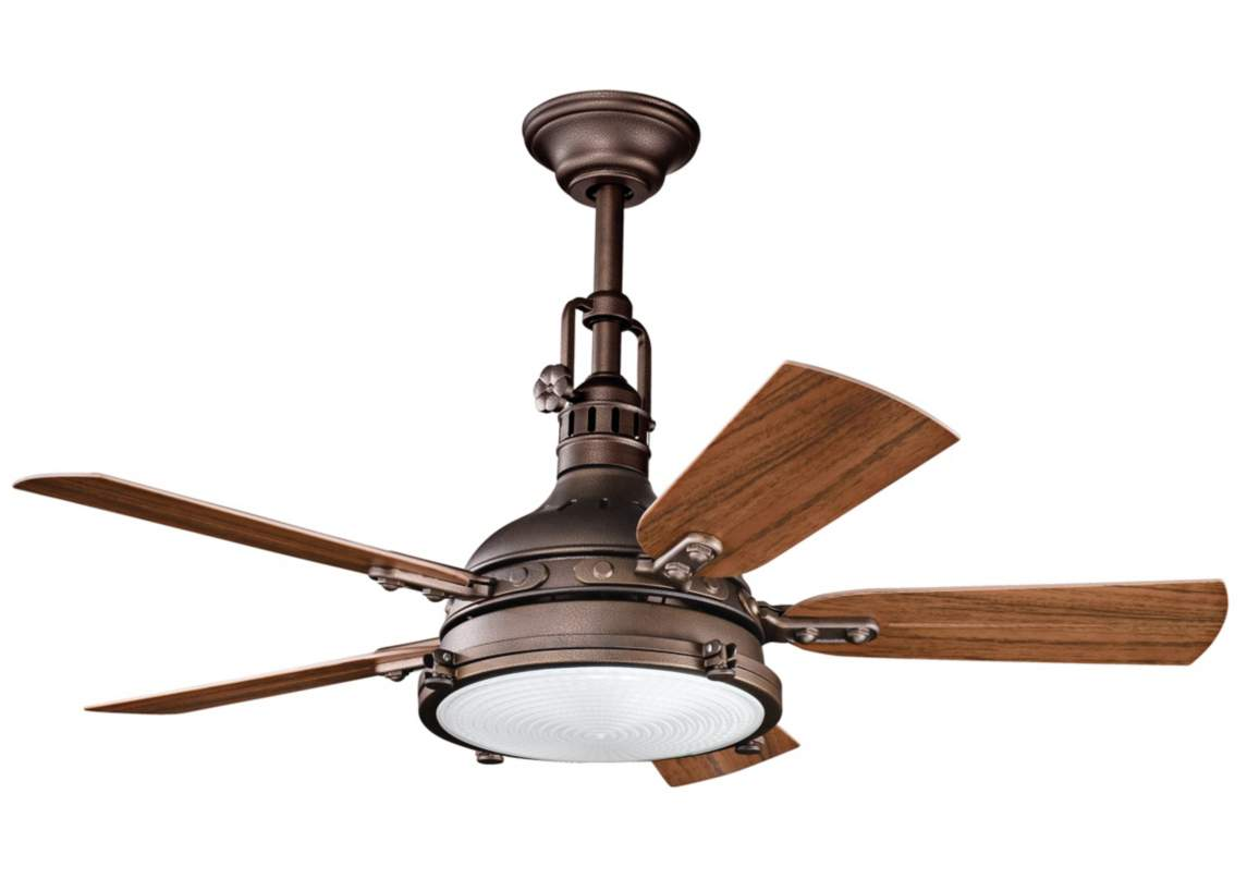 Kichler Hatteras Bay Ceiling Fan - 44 Weathered Copper