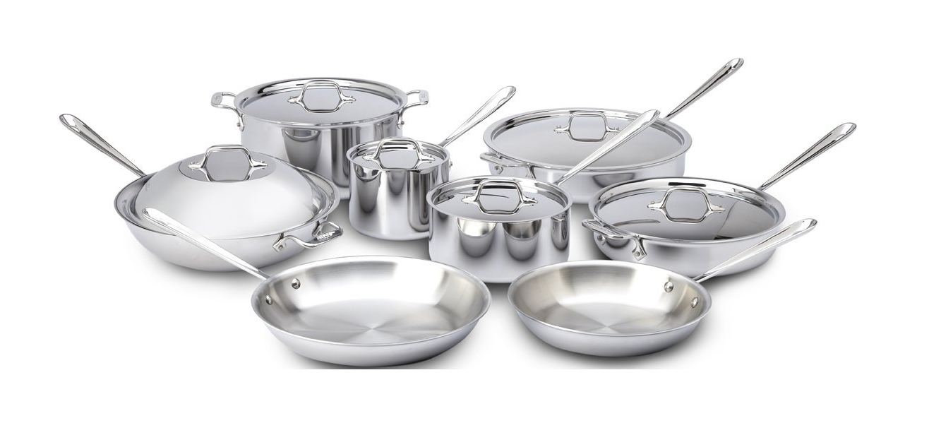 All clad stainless steel cookware sets - All Clad Stainless Steel Cookware 14 Piece Set
