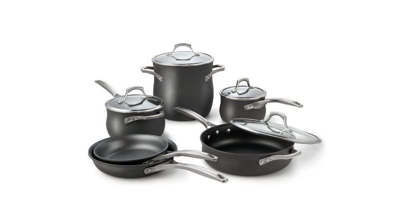 calphalon unison cookware nonstick cookware set