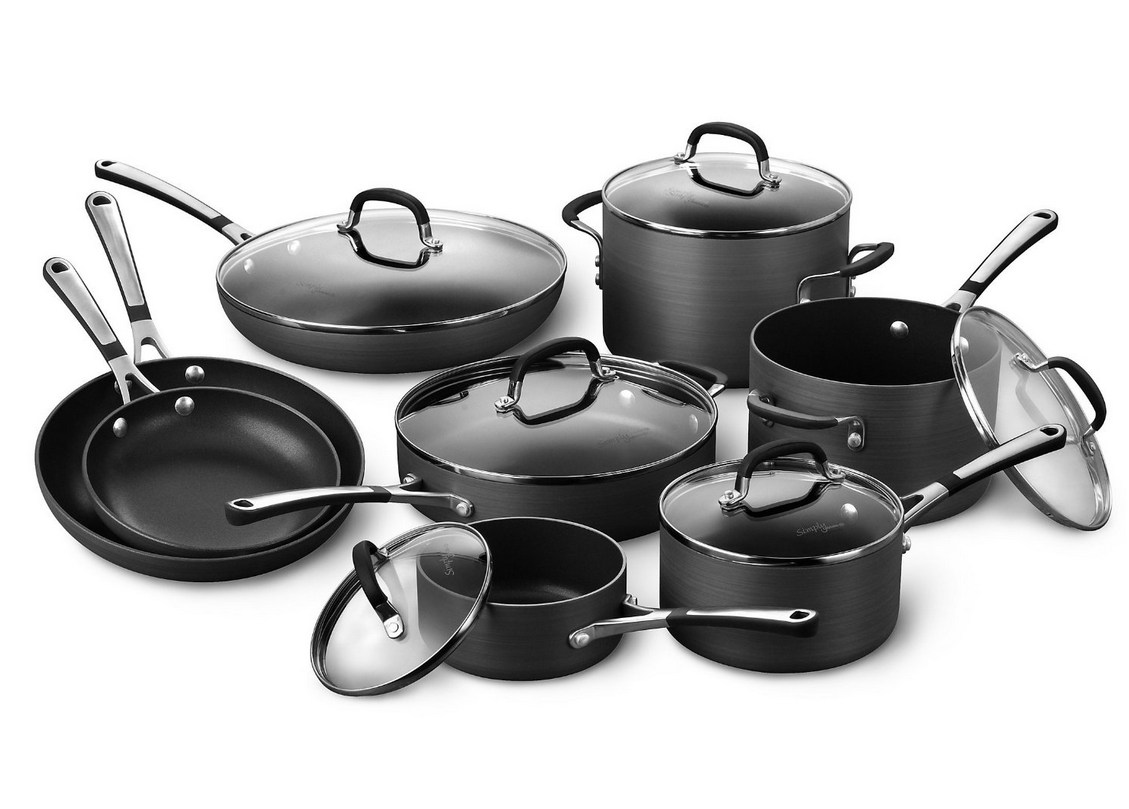 simply calphalon hard anodized nonstick cookware set