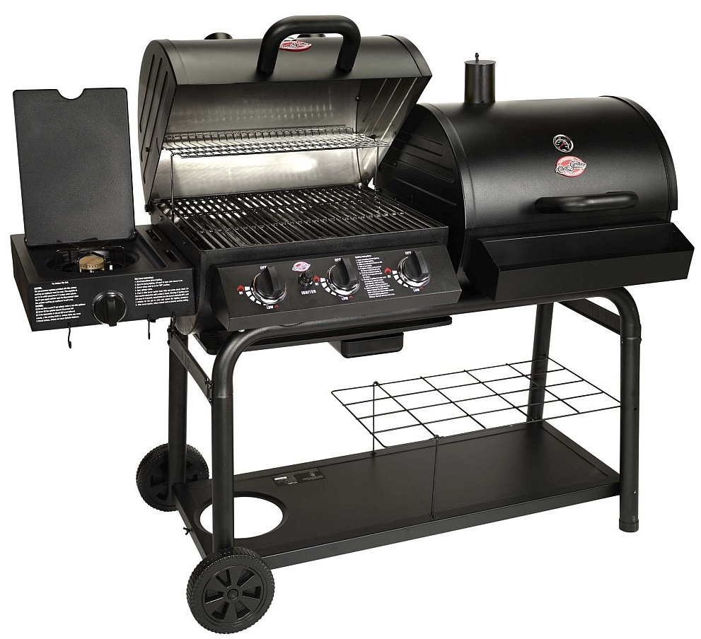 best gas grill 2015 char-griller 5050 duo gas and charcoal grill