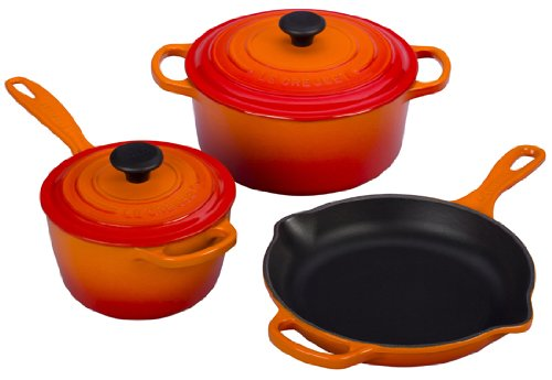 best le creuset cookware 2015 flame orange
